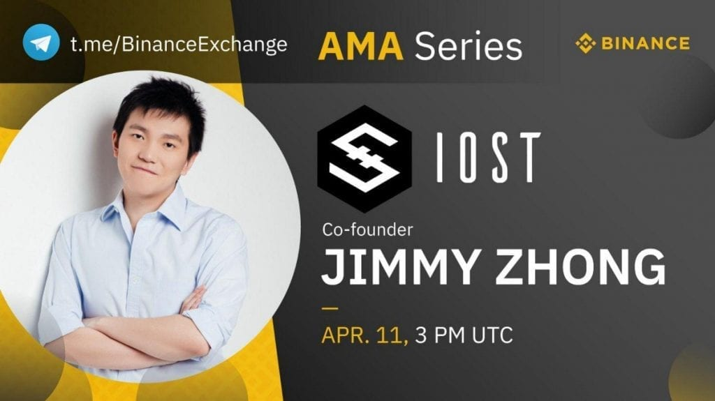 Binance IOST Ask Me Anything Session with Jimmy Zhong