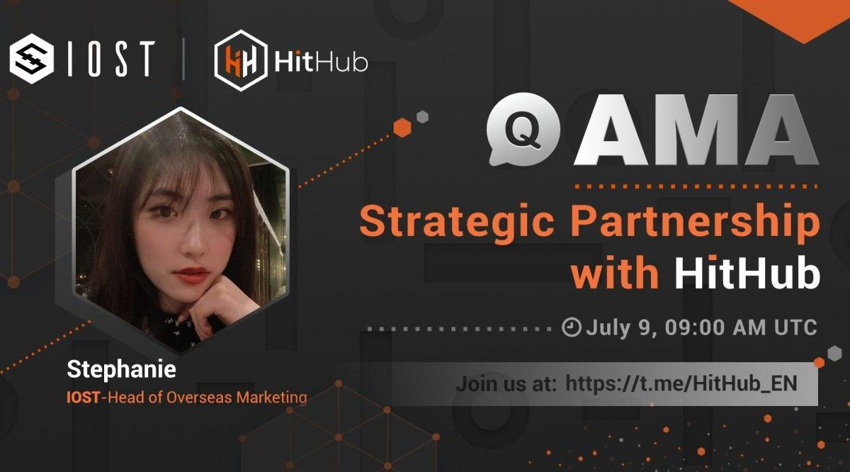 Recap of HitHub AMA with IOST's Head of Overseas Marketing Stephanie
